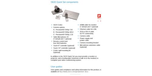 Cisco Telepresence SX20 Quick Set w/HD 1080p 12x Camera
