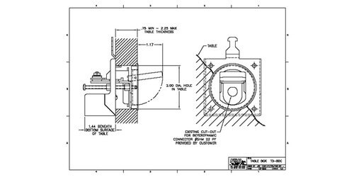 FSR T3-BDC-ALU Table Microphone Box for Beyerdynamic