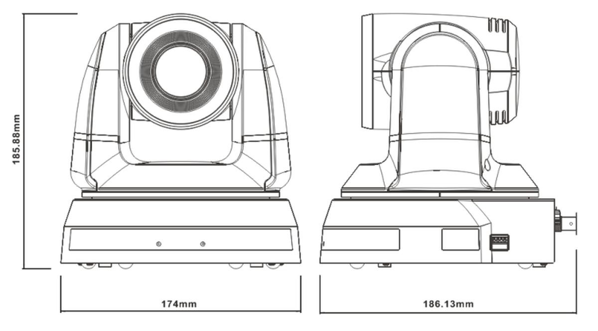 Marshall CV620-WH HD PTZ Camera, 3G/HD-SDI, DVI, VGA, 20x