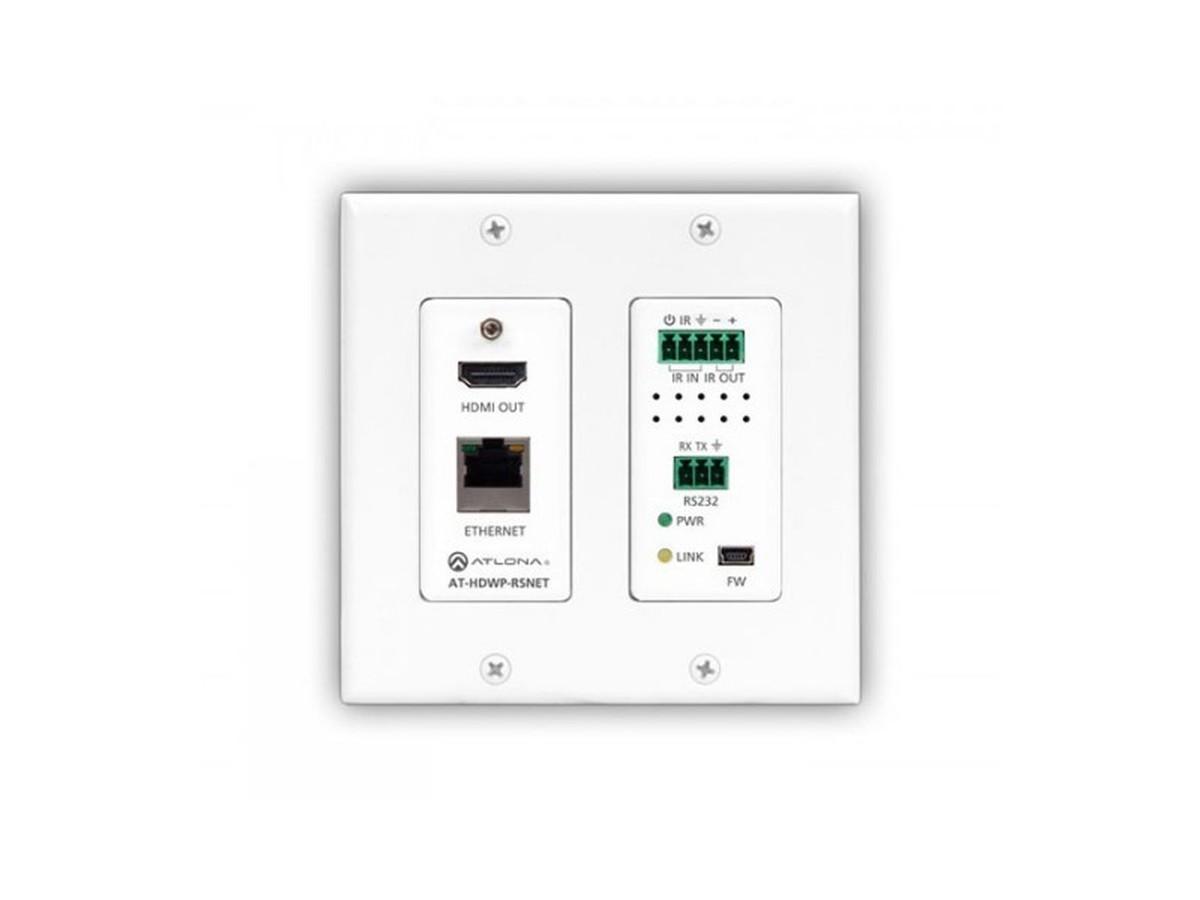 Atlona AT-HDWP-RSNET HDBaseT HDMI 4K Wall Plate Receiver w