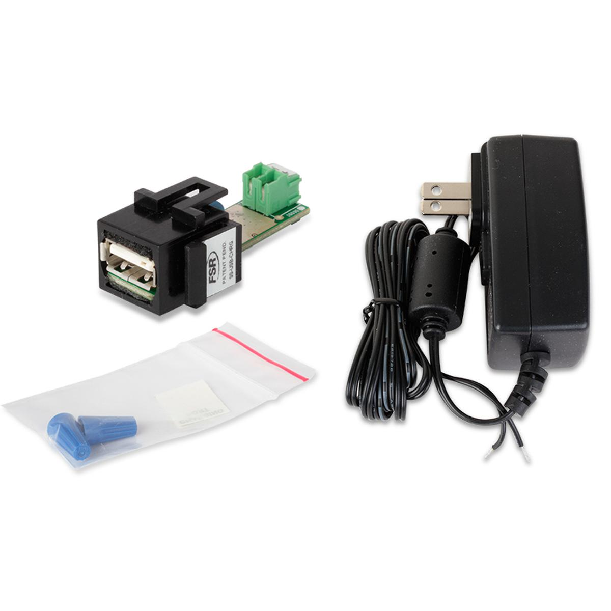 FSR SSUSBCHRG USB Charging Port Keystone SnapIn With