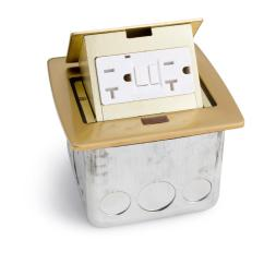 Pop Up Outlets For Kitchen Wall Cabinets Unfinished Lew Electric Pufp Ct Bk Countertop Box W 2 Gfi 20a