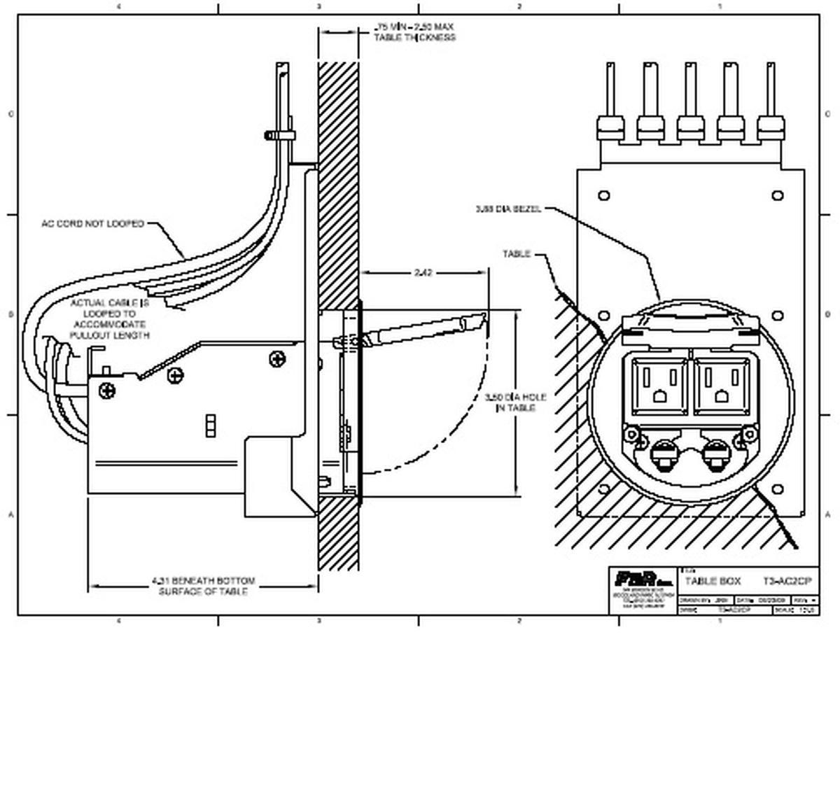 Fsr T3 Ac2hw Cp Blk 2 Ac Hardwired Amp 2 9 Cat 5 Pulls
