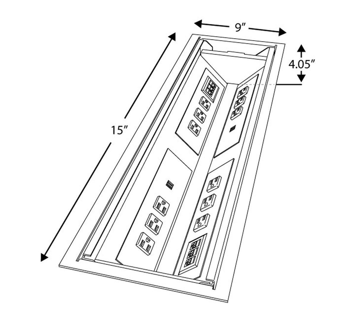 Eca Oasis 30 Table Well Box W Dual Slide Away Lids 12
