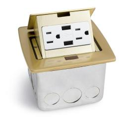 Pop Up Outlets For Kitchen Unfinished Islands Lew Electric Pufp Ct 2usb Countertop Box W 2 Usb