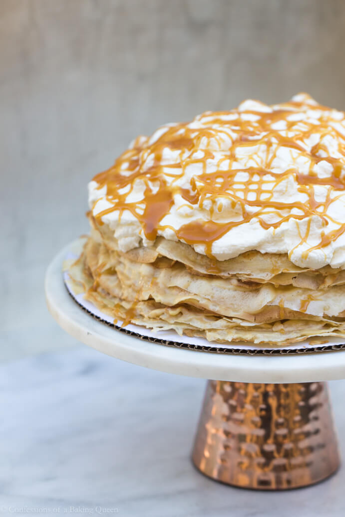 Salted Caramel Crepe Cake Confessions Of A Baking Queen