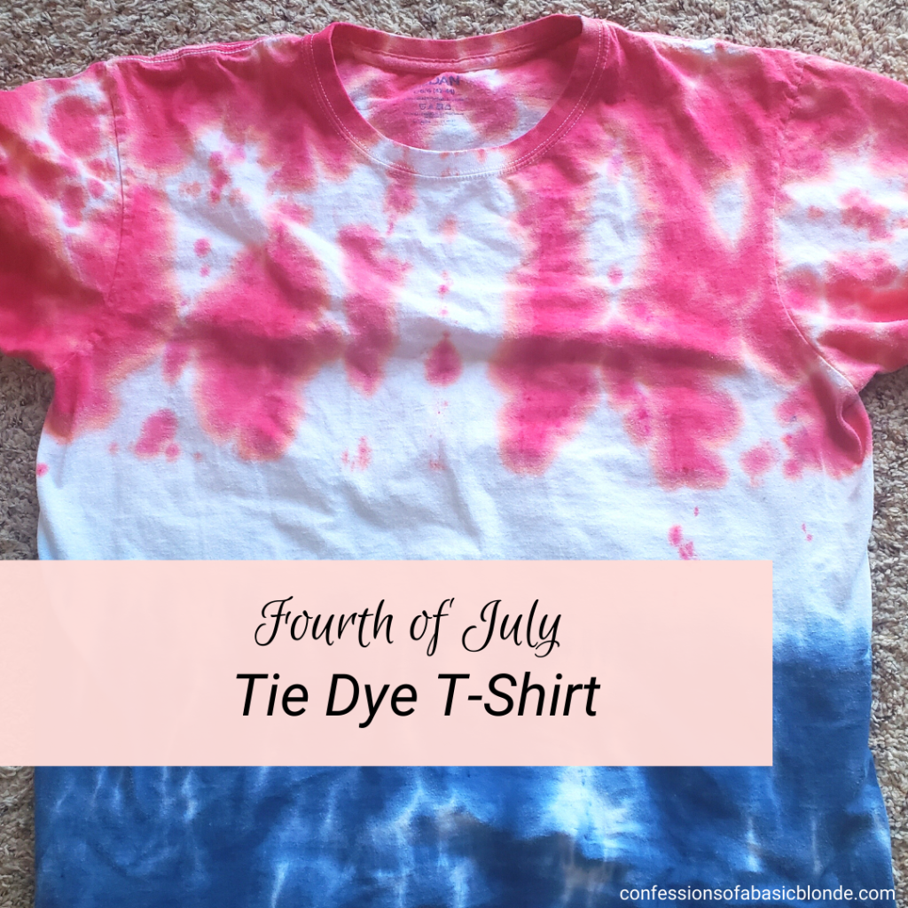 Fourth of July Tie-Die T-Shirt Featured image of finished shirt