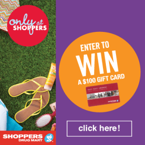 Only At Shoppers $100 Gift Card Giveaway