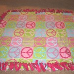 No Sew Fleece Tie Blanket Tutorial Confessions Of A Homeschooler