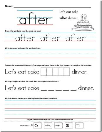 First Grade Sight Word Sentences