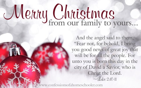 Merry Christmas from our family to yours! Confessions of