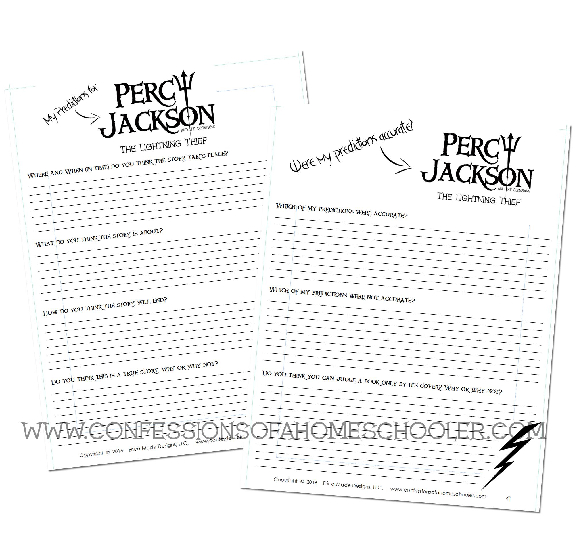 Percy Jackson Literature Unit
