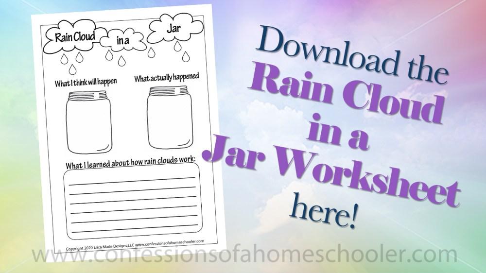 medium resolution of Rain Cloud in a Jar Experiment - Confessions of a Homeschooler