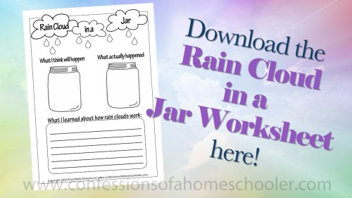 small resolution of Rain Cloud in a Jar Experiment - Confessions of a Homeschooler