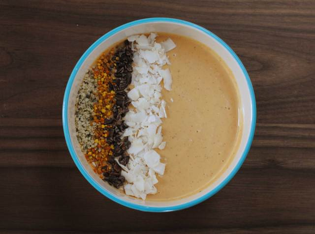 Sweet Potato Almond Butter Smoothie Bowl | Confessions of a Midnight Baker