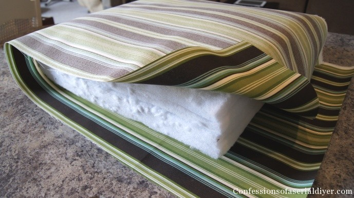 reupholstering sofa cushions do it yourself corner blue velvet sew easy outdoor cushion covers part 1 i was barely able to cut enough for two side by your sides only need be long meet each other in the middle with