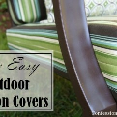 Outdoor Chair Cushion Covers Heated Recliner Sew Easy Part 1