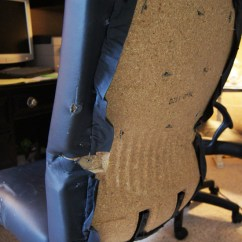 Diy Sofa Reupholstering Modern Leather Sectionals Desk Chair Makeover