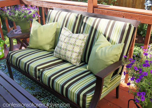 sewing patterns for chair cushions vanity sew easy outdoor cushion covers part 1 update your with this super cover tutorial from confessions of
