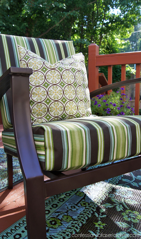 sewing patterns for chair cushions small metal chairs sew easy outdoor cushion covers part 1 update your with this super cover tutorial from confessions of