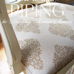 How To Reupholster A Sofa No Sew Best Inexpensive Sleeper Sofas Add Piping Dining Room Chairs | Confessions Of ...