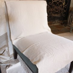 How To Make A Slipcover For Sofa Chair Serta Rta Reviews Slipcovering An Armless Accent | Confessions Of ...