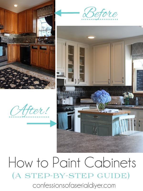How to Paint Kitchen Cabinets (A Step