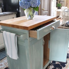 Rolling Kitchen Carts Marble Backsplash Cart Makeover 9