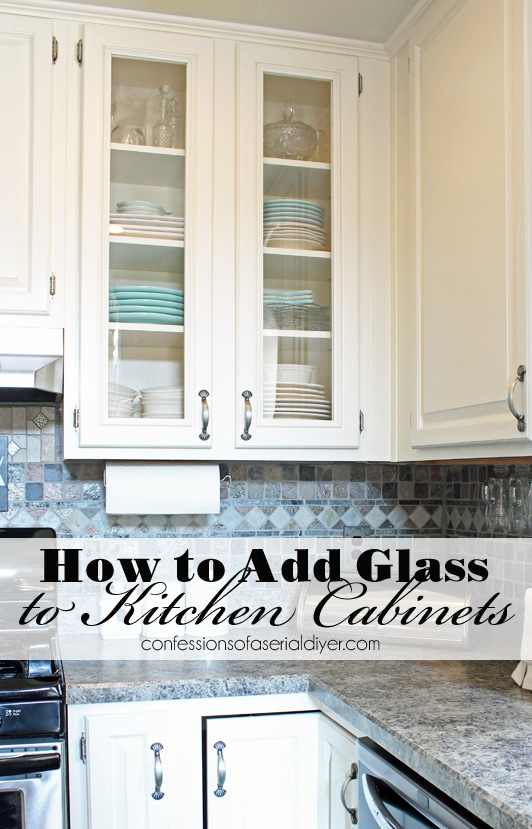 How To Add Glass To Cabinet Doors Confessions Of A Serial Do It Yourselfer