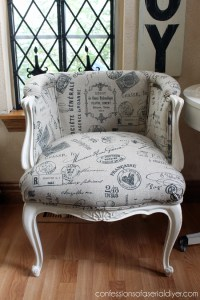 French Provincial Chair Makeover | Confessions of a Serial ...