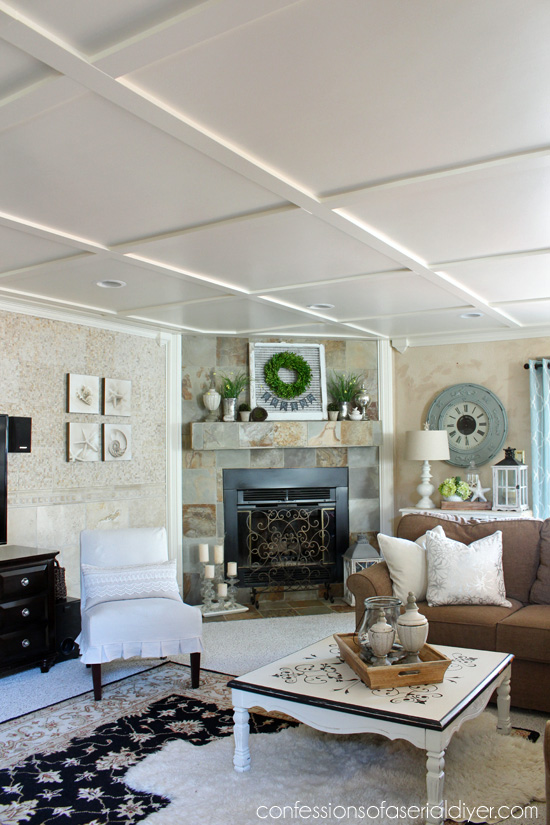 Faux Coffered Ceiling  Confessions of a Serial DoitYourselfer