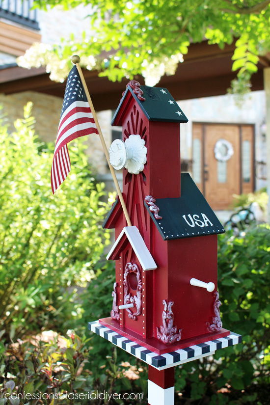 Patriotic Birdhouse  Confessions of a Serial DoitYourselfer