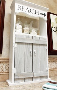 Beach-Inspired Bathroom Cabinet | Confessions of a Serial ...