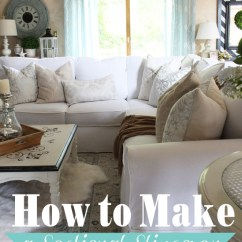 Pillow Covers For Living Room Furniture Decor Small Rooms How To Make A Sectional Slipcover Part 2 Cushion This Is Two Of Tutorial There Nothing Unique About Covering Cushions Verses Sofa