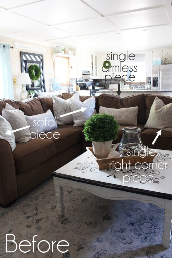 how to make a slipcover for sofa cassina lc2 preis sectional three piece slip cover