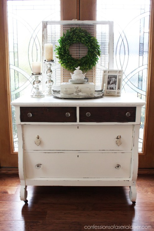 Empire dresser makeover from Confessions Of A Serial Do-It-Yourselfer