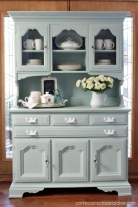 Thrift Store Hutch Makeover | Confessions of a Serial Do ...