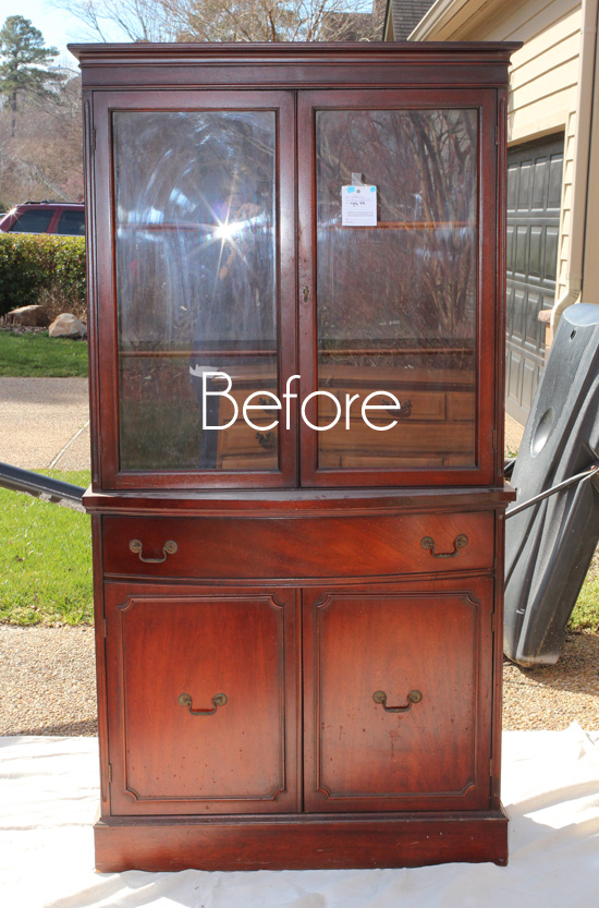Thrift Store China Cabinet Makeover  Confessions of a