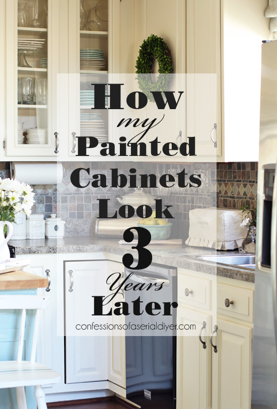 Painted Kitchen Cabinets Three Years Later Confessions Of A