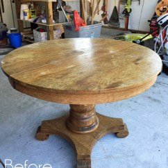 Pedestal Kitchen Table Banquette Bench Makeover