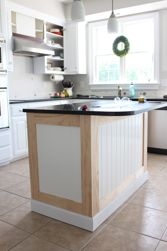 beadboard kitchen island outdoor modular makeover with how to add