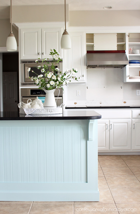 beadboard kitchen island and bath showrooms makeover with how to add