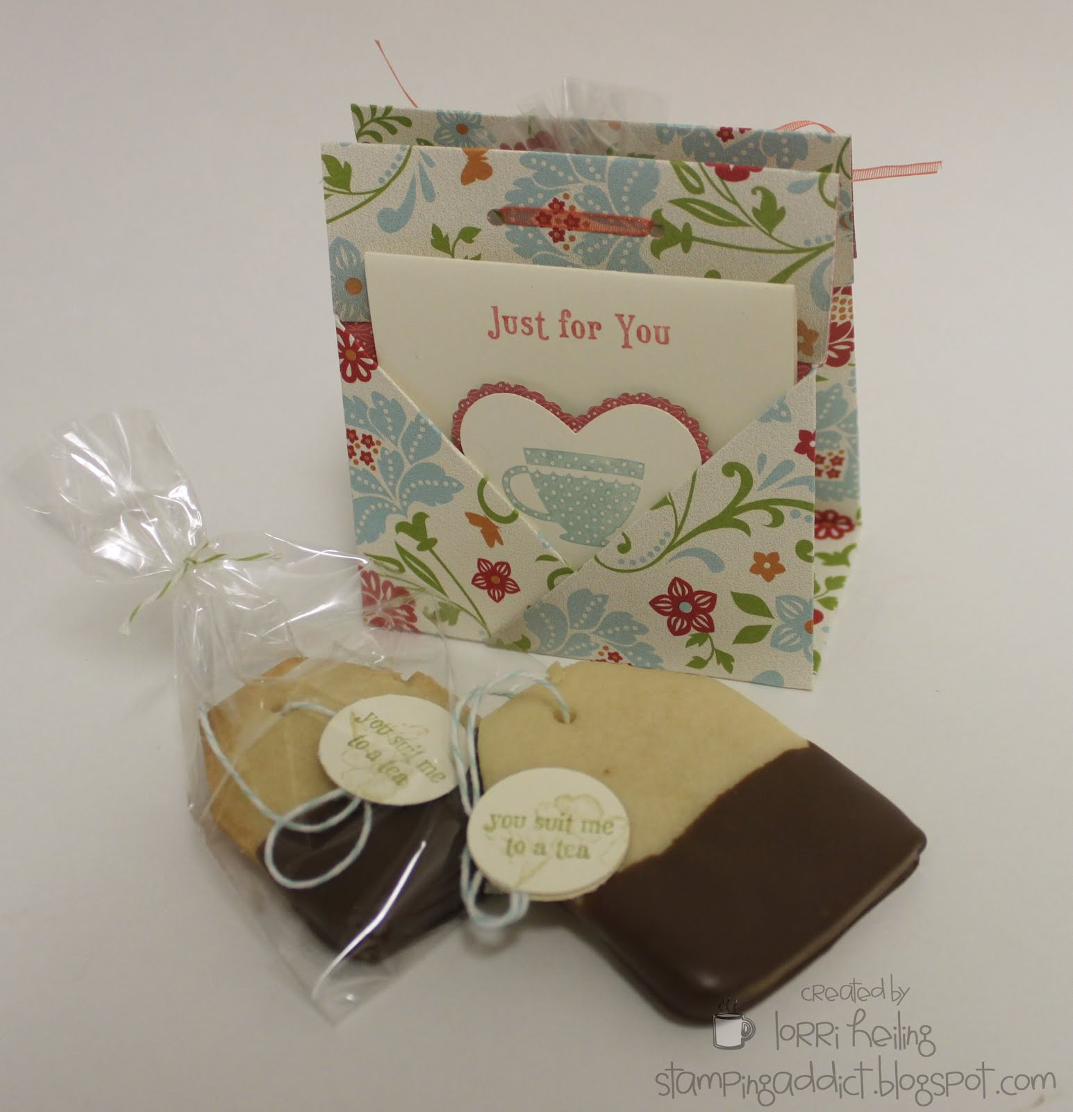 Tea Bag Holder/Card /Cookie :: Confessions of a Stamping