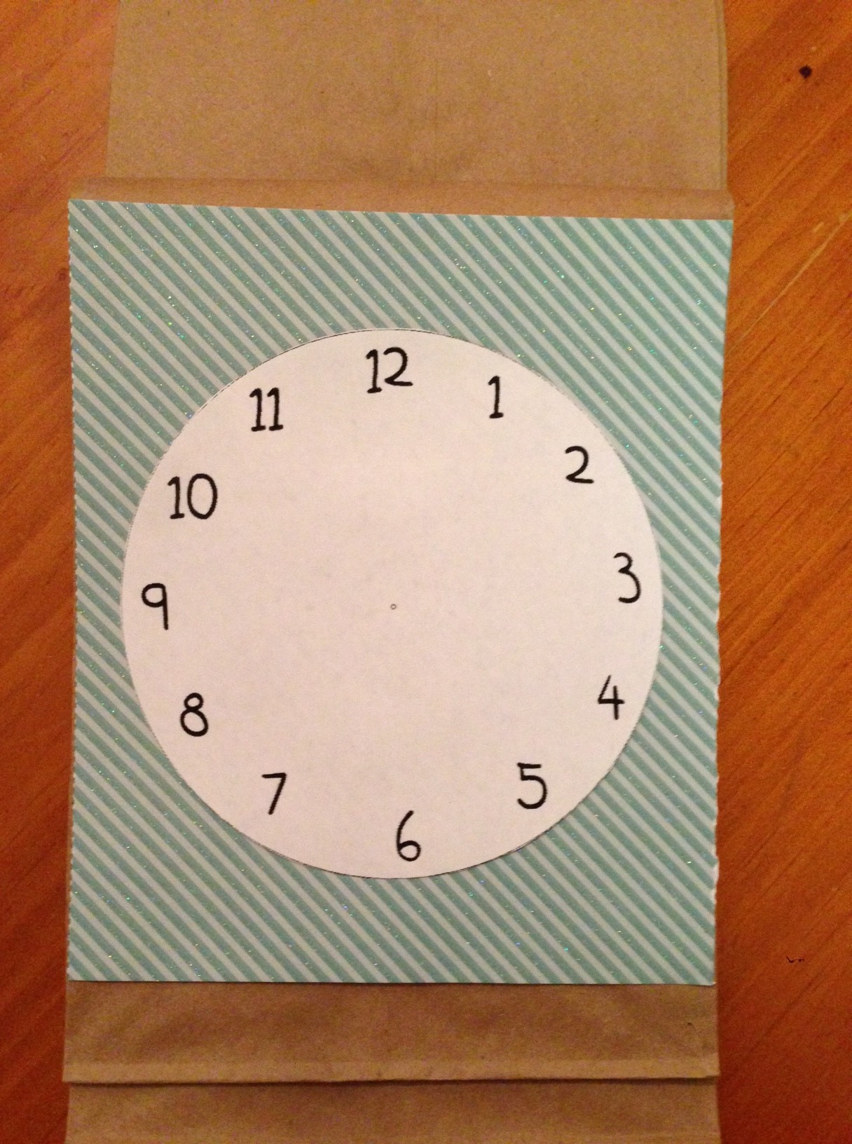 Attach One Of The Blank Clock Templates To The Middle Of The Card Stock.