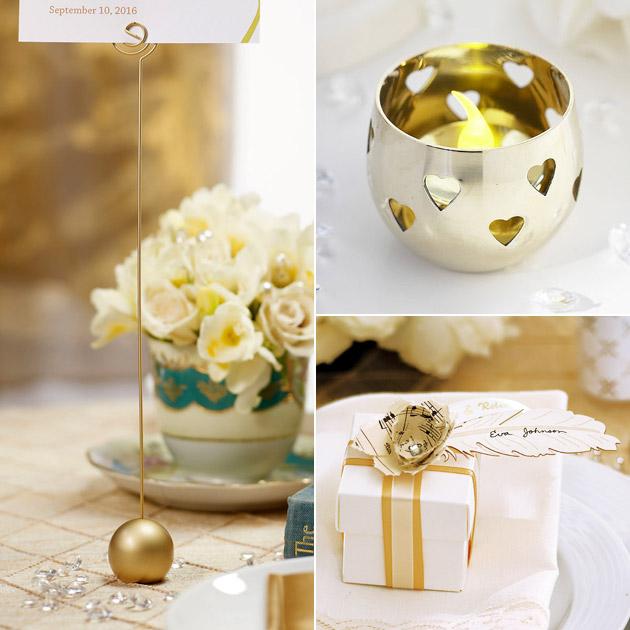Oh So Elegant Ivory Amp Gold Wedding Theme