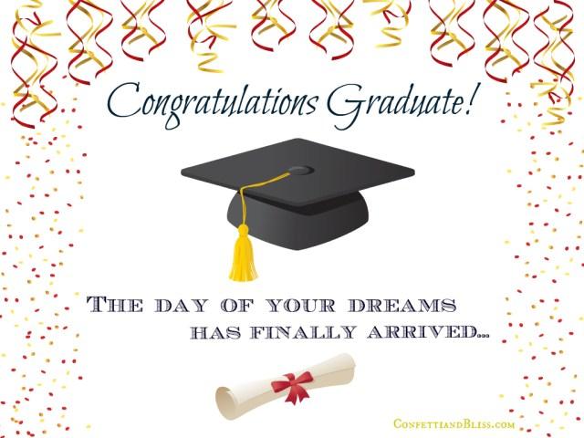 Graduation Card Wording  Confetti & Bliss