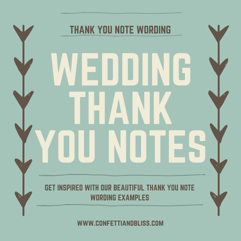 Thank You Letter For Wedding Gift: Wedding Thank You Note Wording: Generous Wedding Gifts