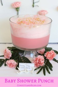 Pretty in Pink: Fabulous Frothy Baby Shower Punch
