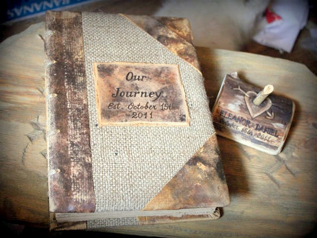 Trendy Tuesday Vintage Wedding Guest Books