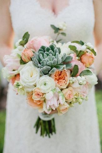 Loads of Lovely Succulent Bridal Bouquets